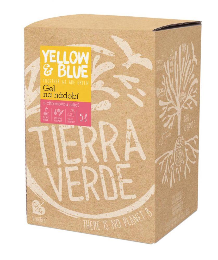 Yellow & Blue Gel na nádobí - mýdlový ořech 5L