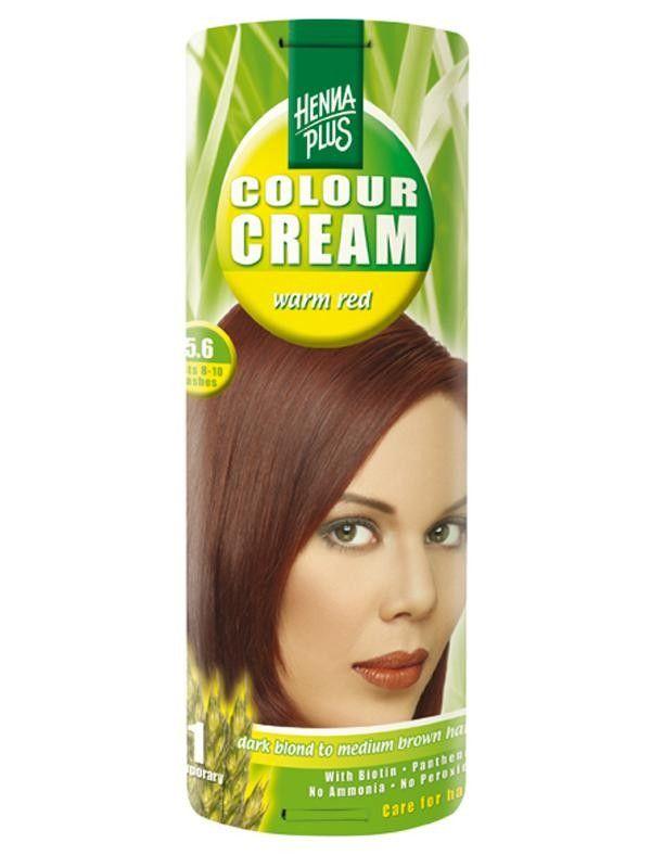 HennaPlus Krémová barva Tmavě červená 5.6 60 ml