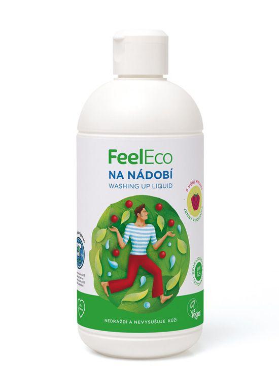 Feel eco na nádobí s vůní maliny 500ml