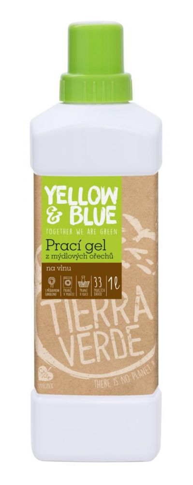 Yellow & Blue Prací gel z mýdlových ořechů na vlnu 1L