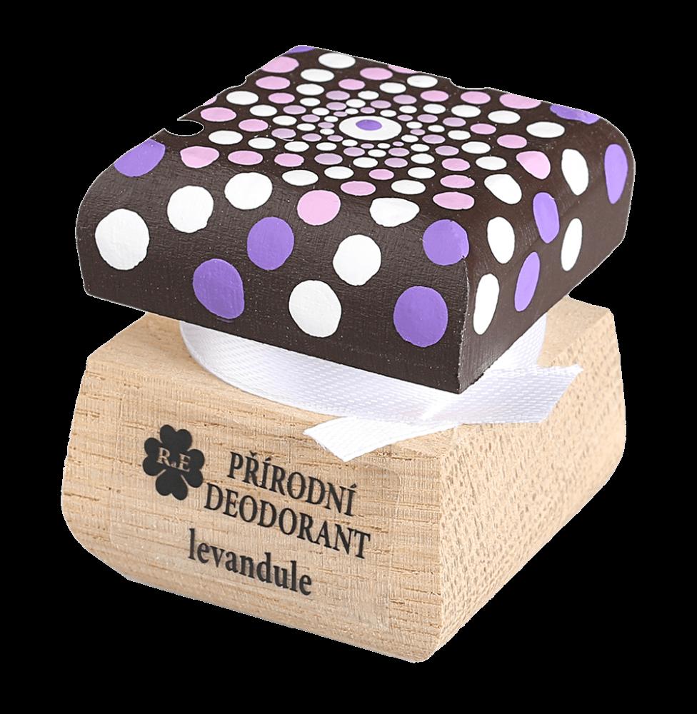 RaE krémový deodorant Levandule s ručně malovaným víčkem mandala 15 ml