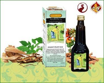 Siddhalepa Ayur Oil 23 Mahanarayana - regenerace tkáně, klouby, revma, vysoký tlak 220 ml