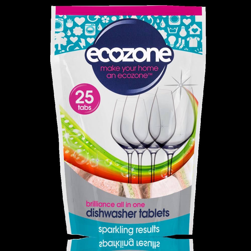 Ecozone Tablety do myčky Brilliance vše v jednom 25 ks