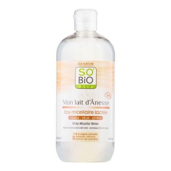 SO´BIO etic Voda micelární s oslím mlékem 500ml