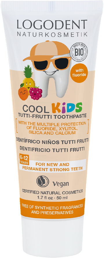 Zubní gel KIDS Tutti Frutti Logona 50 ml