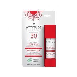 100% minerální ochranná tyčinka na obličej a rty (SPF 30) bez vůně Attitude 18,4g