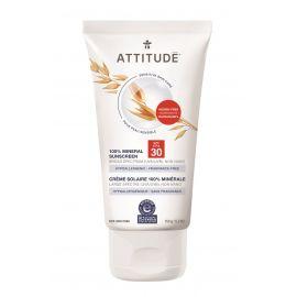 100% minerální opalovací krém (SPF 30) pro citlivou a atopickou pokožku bez vůně Attitude 150g