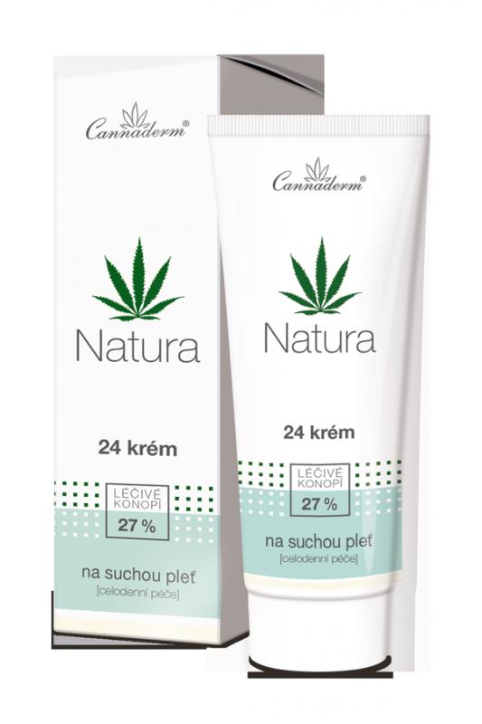 Cannaderm NATURA 24 krém na suchou a citlivou pleť 75 g