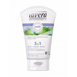 3v1 očista, peeling a maska Lavera 125ml