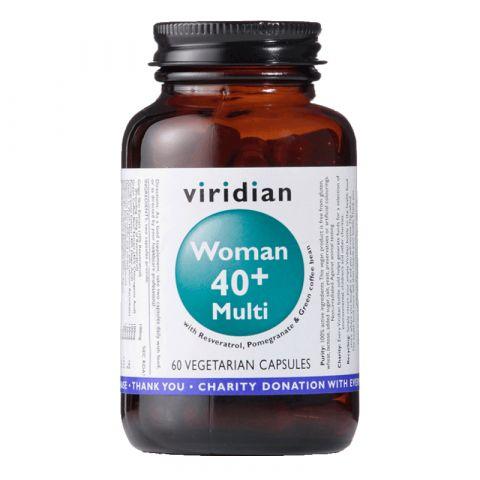 40+ Woman Multivitamin (Natural multivitamín pro ženy) 60 kapslí Viridian