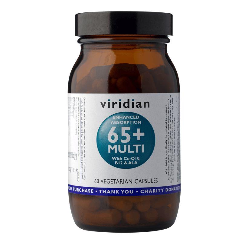 Viridian 65+ Multi (Natural multivitamín pro seniory) 60 kapslí