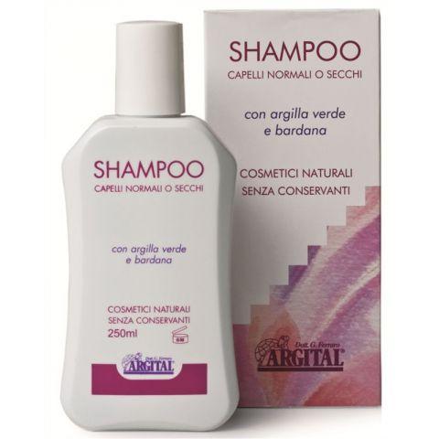 Šampon na normální a suché vlasy s lopuchovým kořenem Argital 250ml