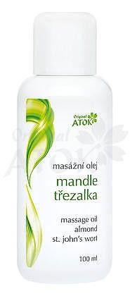 Masážní olej Mandle-třezalka Atok 100 ml