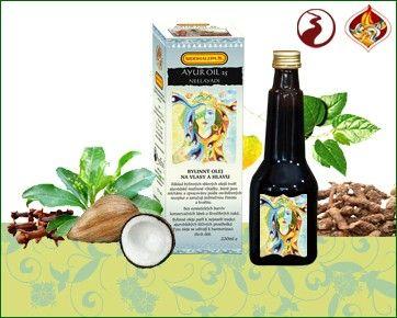 Sidhalepa Ayur Oil 25 Neelayadi - vlasy, pokožky hlavy, šedivění, lupy, bolesti hlavy 220 ml
