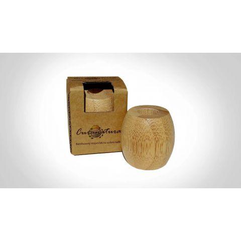 Bambusový stojánek na zubní kartáček malý Curanatura