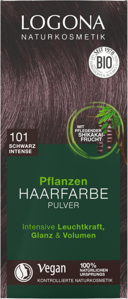 LOGONA Barva Černá rostlinná intenzivní na vlasy 100g