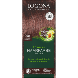 Barva na vlasy 090 Tmavě hnědá Logona 100 g