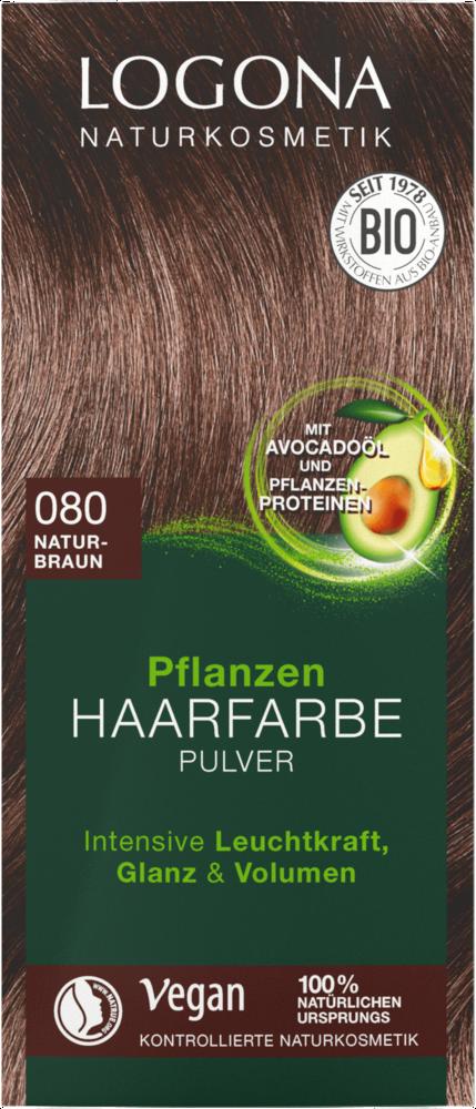 Logona Barva na vlasy Henna Hnědá přírodní 100g