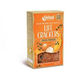 Bio Life crackers Cibulové s dýňovým semínkem Lifefood 90g