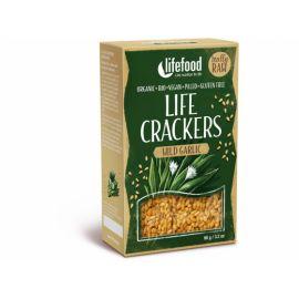 Bio Life crackers s medvědím česnekem Lifefood 90g