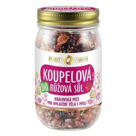 Bio růžová koupelová sůl Purity Vision 400 g