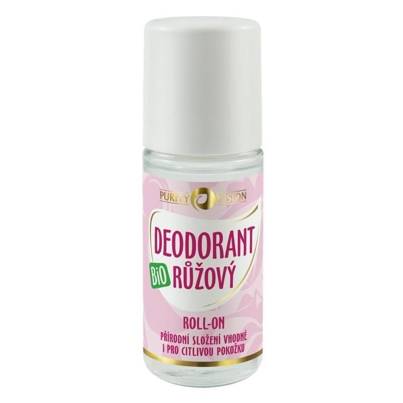Purity Vision Bio růžový deodorant roll-on 50 ml