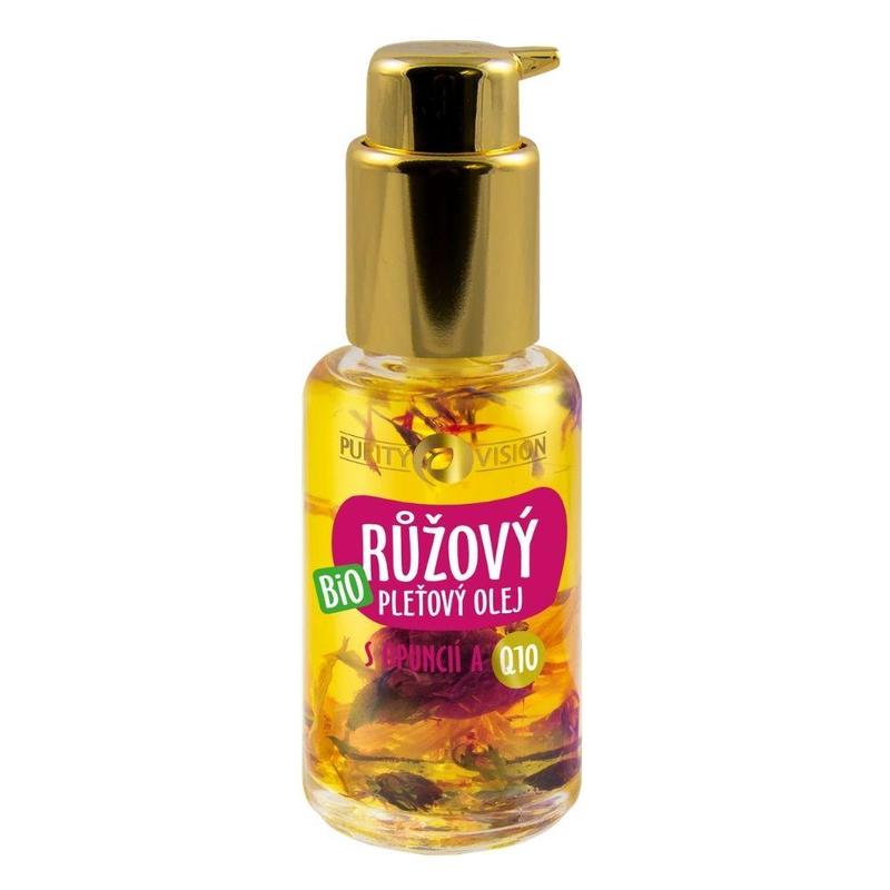 Purity Vision Bio Růžový pleťový olej s opuncií a Q10 45 ml