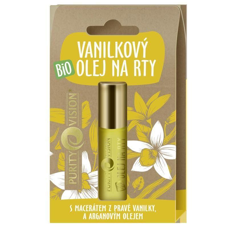 Purity Vision Bio vanilkový olej na rty 10 ml
