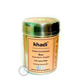 Bylinná pleťová maska RŮŽE - ANTI-AGING - PROTI STÁRNUTÍ PLETI Khadi  50g