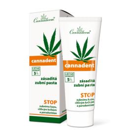 Cannadent zásaditá zubní pasta Cannaderm 75 g