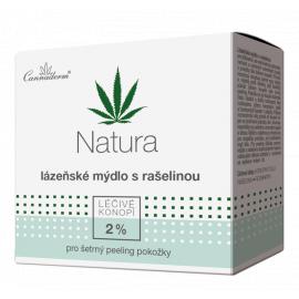 Lázeňské mýdlo s rašelinou NATURA Cannaderm 80 g