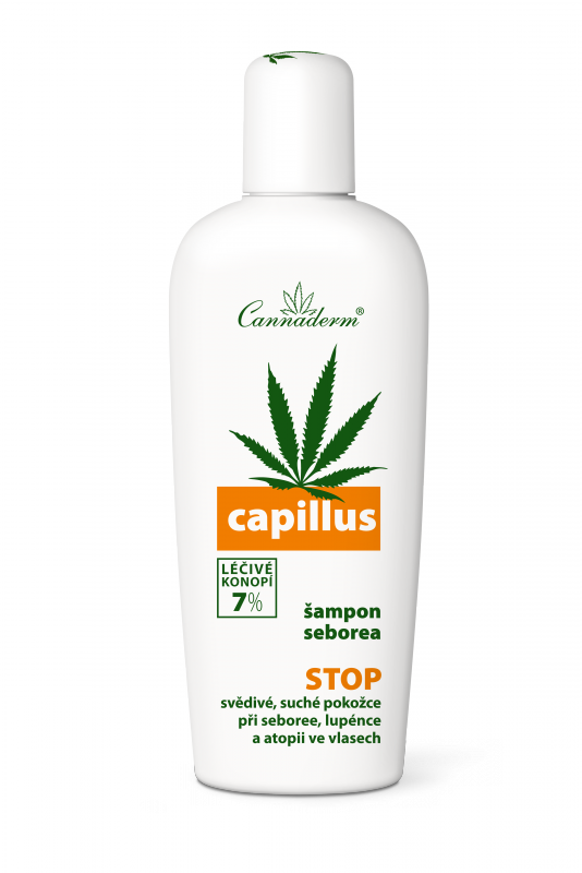 Cannaderm šampon pro suchou a citlivou pokožku hlavy Capillus Seborea 150 ml
