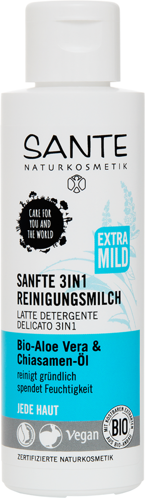Čistící mléko 3v1 Bio Aloe & Chia olej Sante 125ml