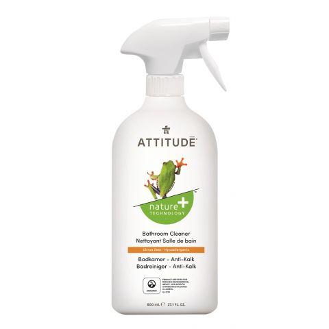 Čistící prostředek na koupelny s vůní citronové kůry s rozprašovačem Attitude 800ml