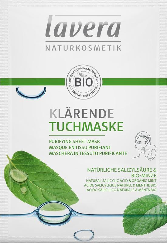 Čistící textilní maska Lavera 21 ml