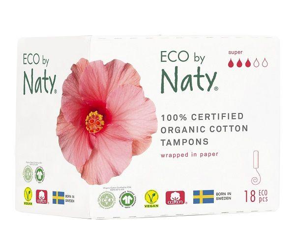 Naty Dámské ECO tampóny - super 18 ks