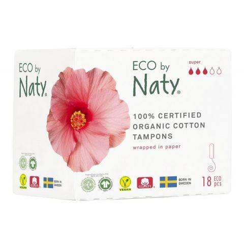 Dámské ECO tampóny - super Naty 18 ks