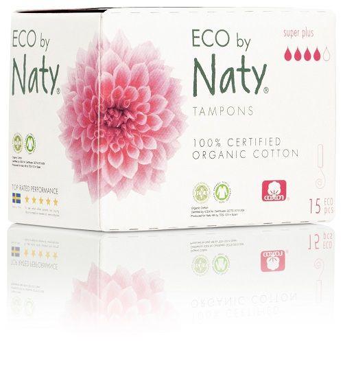 Naty Dámské ECO tampóny - super plus 15 ks