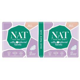 Dámské vložky s bavlnou - normal NAT nice & true 20 ks