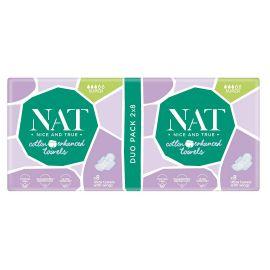 Dámské vložky s bavlnou - super NAT nice & true 16 ks