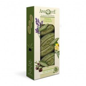 Dárková sada olivových mýdel Bylinné esence Aphrodite 255g