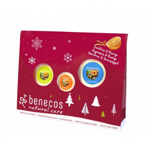 Dárková sada vánoční rakytník a pomeranč Benecos