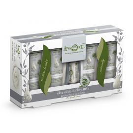 Dárková tělová sada olivový olej & oslí mléko Aphrodite 150 g