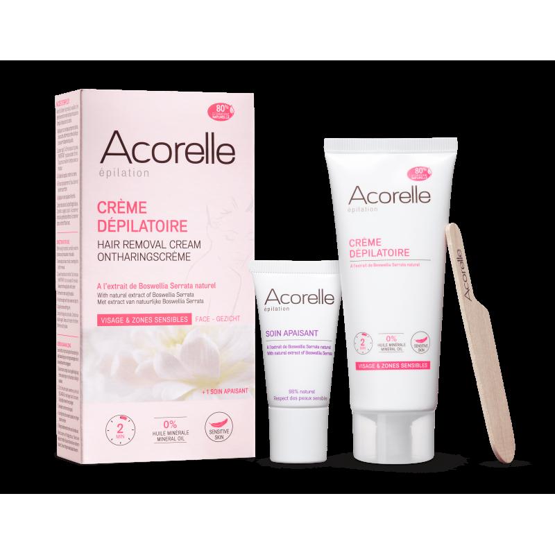 Acorelle Depilační krém na obličej a citlivé zóny+péče pro zklidnění 75ml