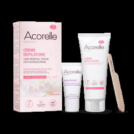 Depilační krém na obličej a citlivé zóny+péče pro zklidnění Acorelle 75ml