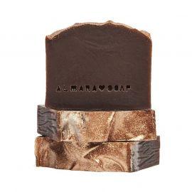Designové ručně vyrobené mýdlo pro normální pokožku Gold Chocolate Almara Soap