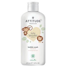 Dětská pěna do koupele s vůní hruškové šťávy Attitude Baby leaves 473ml