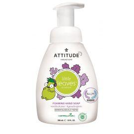 Dětské pěnivé mýdlo na ruce s vůní vanilky a hrušky Attitude Little leaves 295ml