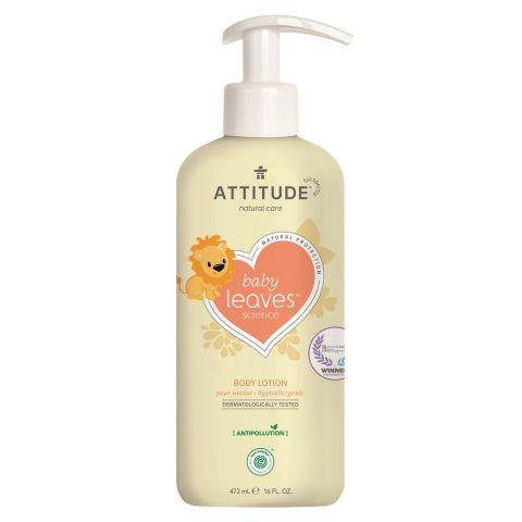 Dětské tělové mléko s vůní hruškové šťávy Attitude Baby leaves 473ml