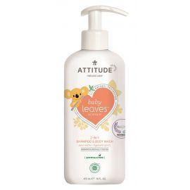 Dětské tělové mýdlo a šampon (2v1) s vůní hruškové šťávy Attitude Baby leaves 473ml
